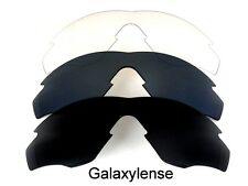 Galaxy Replacement Lenses For Oakley M2 Frame Black&Titanium&Clear 3Pairs