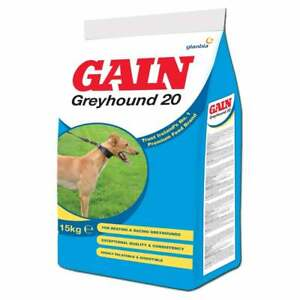 Gain Greyhound 20 Racing Greyhound Dog Food 15Kg FREE NEXT DAY DPD DELIVERY