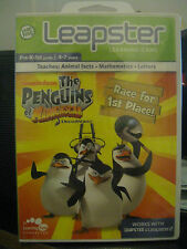 """LEAPSTER """"THE PENGUINS OF MADAGASCAR"""" LEARNING GAME PRE-K-1ST GRADE (4-7 YEARS)"""
