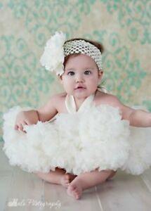 Super cute KAIYA EVE White Ruffled Fluff Pettiskirt skirt girl 3M 18M 2y madeUSA