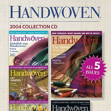 4 Issues on CD: HANDWOVEN MAGAZINE 2004 Weaving Fabric twill lace warping paddle