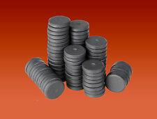 25 MAGNETI a Disco Rotondo 16mm x 3mm in ceramica del disco in FERRITE CALAMITE Per Craft & Frigo