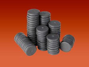 25 Round Disc Magnets 16mm x 3mm Ferrite Ceramic Disk Magnets for Craft & Fridge
