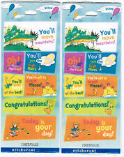 2 Packs Hallmark DR SEUSS 4 sheets Scrapbook Stickers