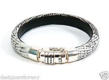 Buddha to Buddha Jack Multi lizard leather Sterling Silver Bracelet