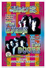Psychedelic: The Byrds at the Whisky A Go Go L.A. Concert Poster 1967