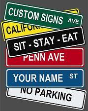 "Set of 3 Custom Street / Road Name Sign!   6"" x 24"""