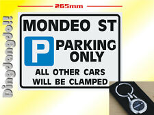 Ford Mondeo ST Keyring & Parking Sign Novelty Gift Set Key Ring
