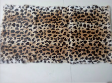 Real Rabbit Fur Leopard Striped Blanket Real Fur Carpet Rug Throw Leather 43x 22
