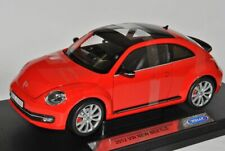 VW Volkswagen Beetle New Coupe From 2011 Red 1/18 Welly Model Car With Or No