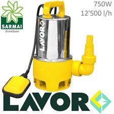 Pompa LAVOR Sommersa HP 1,0 Elettropompa acciaio inox 750W per acque sporche 8 m
