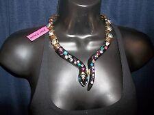 Betsey Johnson Creepshow Stunning Black Snake Collar Necklace NWT $95