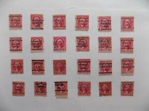 U S Coll'n of (24) 1932 2 cent Wash'n PRECANCEL DEFIN with diff. cities-9-23-L