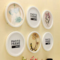 Modern Round Photo Frame Wooden Hanging Picture Holder Bedroom Decoration M