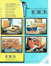 PUBLICITE ADVERTISING 126  1962  Bobois  meubles  ensemblier décorateur A.R.I.A.