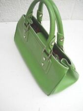 Nordstrom Apple Green Pebbled Leather Small-Medium Size Four-Compartment Handbag