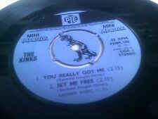 "The Kinks You Really Got Me 4 Track 7"" EP 1971 1st UK A-1*G/B-1*G Pye PMM 100"