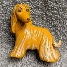 "1997 Topps Rubber 1.5"" Afghan Hound Dog Figurine Dollhouse Miniature"