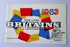 Vintage Raro Britains catálogo comercial 1963 Soldados De Juguete swoppets vehículos
