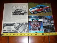 1974 SOX & MARTIN HEMI COLT RACE CAR - ORIGINAL VINTAGE ARTICLE