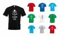 Keep Calm and Camp On, Adults  Printed T-Shirt