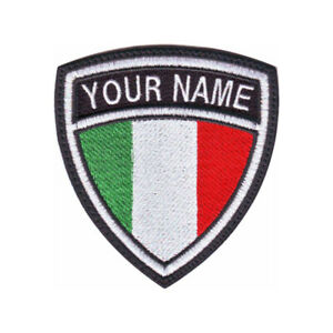 Italy Personalized Crest Embroidered Patch