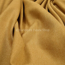 10 Metre Of Quality Highland Wool Effect Gold Chenille Curtain Upholstery Fabric