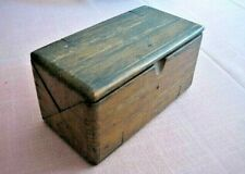 Antique Wood Folding Sewing Accessories Box 1890's