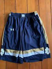 Notre Dame Under Amour Basketball Shorts Mens Size Small Cracking On Logo