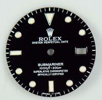 ORIGINAL ROLEX 16800 16610 SUBMARINER BLACK LUMINOUS MARKER DIAL MINTY CONDITION