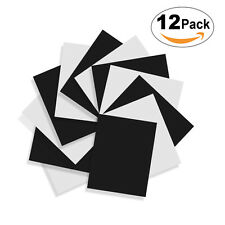"""Heat Transfer Iron On Vinyl 12x10""""(12 Pack) White And Black Bundle For T-Shirts"""