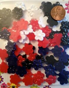 Mini 4 Color Flower Barrettes (Snaps) for small braids twists