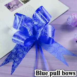 50 Pull Bows 30mm Wedding Car Gift Wrap Ribbon Florist WATERPROOF Decoration