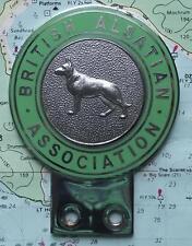 More details for vintage car mascot badge : the british alsation association ( german shepherd )