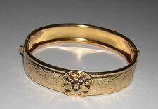 BANGLE Bracelet Gold Plate? Masonic EASTERN STAR Ladies NEW & vintage **rare**