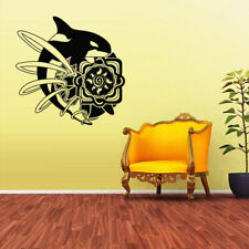Wall Decal Sticker Sea Ocean Orca Dolphin Fish Animals Decal (Z1707)