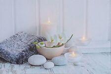 Leuchtbild modern Stein LED Bild Kerzen Wandbild Bild Leuchten Bild Feng Shui