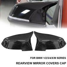 GLOSS BLACK WING MIRROR COVERS For BMW 3/4 SERIES F20 F22 F23 F30 F32 33 F34 UK