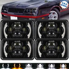 4pcs 4x6 Led Headlights Hilo Sealed Beam Bulb Headlamps For Chevrolet Camaro Fits Mustang