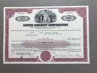 United Aircraft Corporatrion (United Technologies) 1976 Stock Bond Certificate