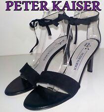 """Fabulous """"PETER KAISER"""" Black   LEATHER Sandals  Shoes UK 7.5 EU  41.5   £139"""