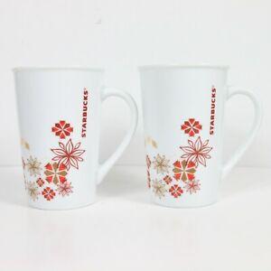 Starbucks White 5 In. Coffee Mug Cup 12 fl oz / 354 ml Set of 2