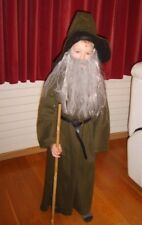 Boys Wizard Costume Gandalf Medieval Gothic Halloween Fancy Dress Costume 7-8 Yr