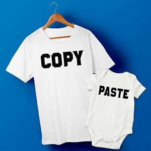 Copy & Paste - Father & Baby Son or Daughter matching T-shirt & Baby Grow Set