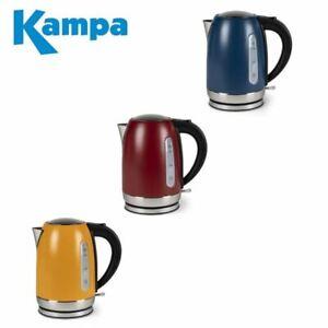 Kampa Tempest Electric Kettle 1.7 Litre Low Wattage - Range Of Colours