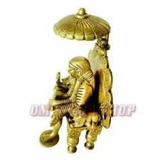 Shirdi Sai Baba with Chair and Chatra Idol in Brass Spritual Store OM POOJA SHOP
