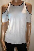 VALLEYGIRL Brand Grey Short Shoulder Short Sleeve Tee Size XS BNWT #TI62