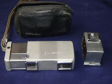 Minolta Silver Spy 16mm Subminiature Camera 22mm F2.8 Case,Filter,Tripod Adapter