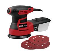 "Random Orbital Sander 350W 125mm 5"" with Dust Box & Sanding Discs Electric 240v"