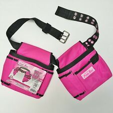 2 Pouch Adjustable Tool Belt - by The Original Pink Box